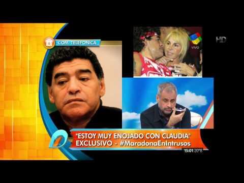 Diego Maradona: Claudia fue una  miserable... ella intenta reflejar la madraza que nunca fue