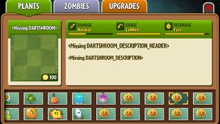 Dart-shroom - Scrapped Dark Ages Plant - Plants Vs. Zombies 2: It