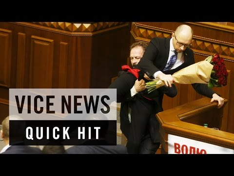 Ukrainian Lawmakers Brawl in Parliament: VICE News Quick Hit