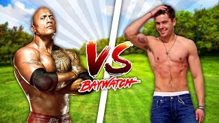 Minecraft BAYWATCH!!!! - THE ROCK VS ZAC EFRON, WHO IS THE STRONGEST LIFEGUARD?? - Donut the Dog