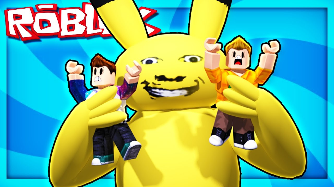 Roblox Adventures - ESCAPE A GIANT EVIL PIKACHU! (A Very Hungry Pikachu)