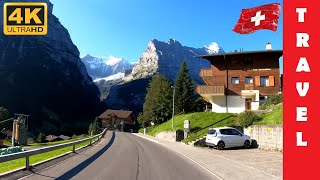 Driving in Switzerland 6: From Grindelwald to Lauterbrunnen | 4K 60fps
