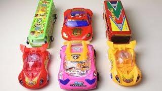 Police car, racing car, Big bus toys for kids | Baby toys video | Ibbu