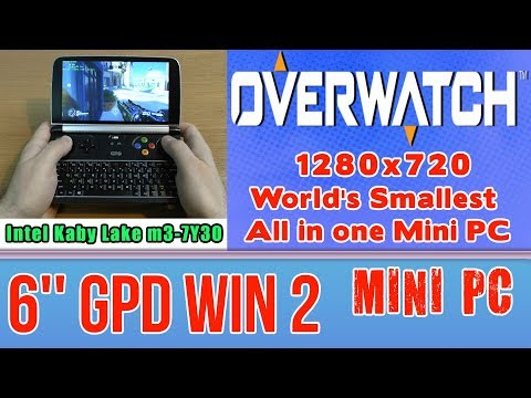 GPD WIN 2 Overwatch (PC) on Handheld Mini PC - 256 GB SSD 8GB RAM Intel m3-7Y30 HD 615