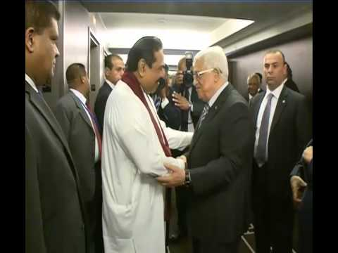 President Rajapaksa Hands Over US$1 Million Donation to Palestine