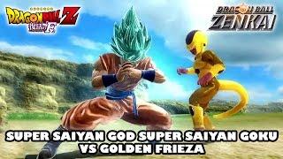 Super Saiyan God Super Saiyan Goku vs Golden Frieza (from DBZ Arcade Game)