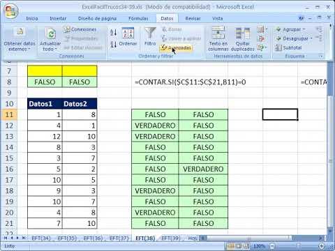 Excel Facil Truco #38: Truco Para Extraer Registros