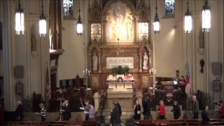 """All glory, laud and honor..."" for Palm Sunday at St. John's Detroit"