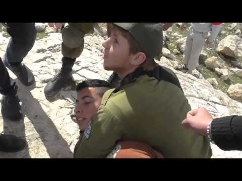 2015 02 08 Israeli forces arrest two shepherds in South Hebron Hills