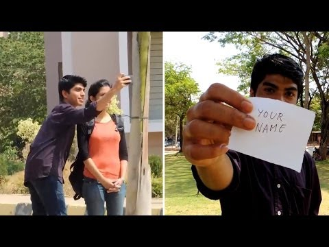 Selfies With Strangers Prank In India video
