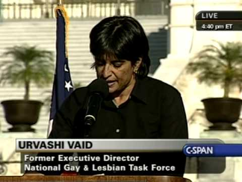 National Equality March Rally: Urvashi Vaid speaks