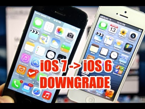 How To Downgrade iOS 7 To 6.1.3 & 6.1.4 - iPhone. iPod Touch & iPad Easy Method