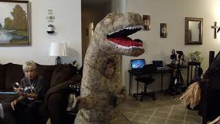 Morph Costumes Inflatable T-Rex Funny Video