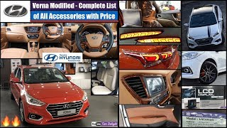 Hyundai Verna Full All Interior,Exterior Accessories with Price | Verna Modified | Verna Accessories