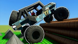 OFF ROAD OBSTACLE RACE! - Brick Rigs Multiplayer Gameplay - Lego Racing Challenge!