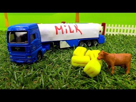 Машины-Помощники - Трактор, погрузчик и молоковоз
