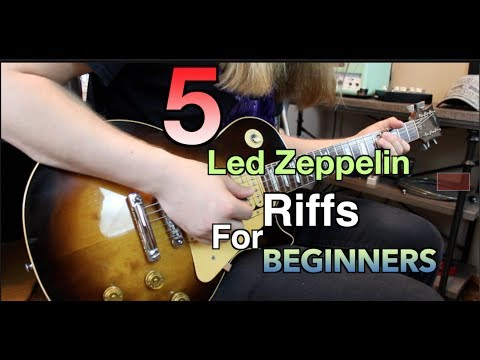 5 Led Zeppelin Riffs Perfect For Beginners ( With Tabs)