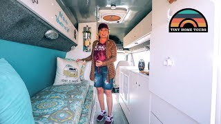 She Went RENT FREE By Moving Into A Camper Van - Her Apartment On Wheels