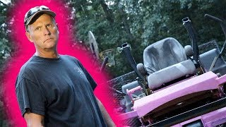 PAINTING PSYCHO DAD'S LAWNMOWER PINK!