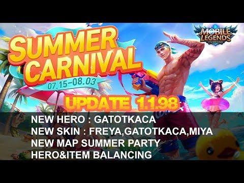 Mobile Legends - Update 1.1.98 Patch Note | Freya Beach Sweetheart,Gatotkaca,Hero&Item Balancing