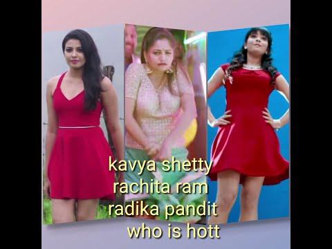 Kavya shetty rachita ram radika pandit HD compilation thumbnail