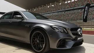 Mercedes-AMG E 63 S: Driving on a Race Track