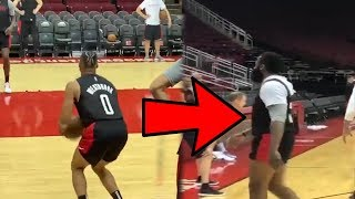 Russell Westbrook and James Harden Look Rusty in 1st Houston Rockets Practice