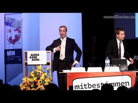 Nigel Farage @ AUNS (Aktion für eine unabhängige und neutrale Schweiz)