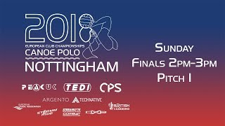 2018 Canoe Polo - European Club Championships Finals 2pm - 3pm Pitch 1