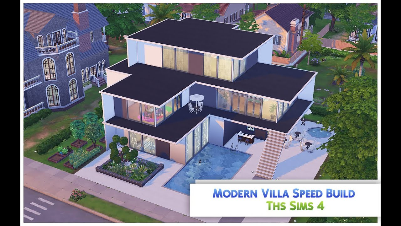 The Sims 4 Speed Build Modern Villa Youtube
