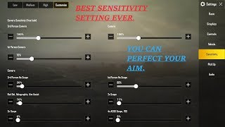 PUBG MOBILE   BEST SENSITIVITY SETTING EVER   YOU CAN PERFECT YOUR AIM