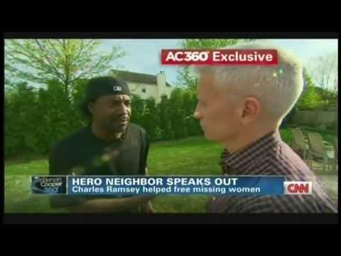 Charles Ramsey Interview with Anderson Cooper, hero who saved kidnapped women (May 7, 2013)
