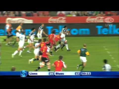 Lions vs Blues highlights, 2011 Super Rugby Rd 3, Johannesburg