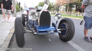 Bugatti Type 35C 1935 - Fly By Start Acceleration