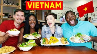 American Couple Tries VIETNAMESE FOOD For The FIRST TIME | BANH MI & PHO