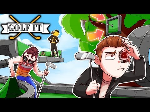 FIND THE HIDDEN GOLF HOLE CHALLENGE! (Golf It Funny Moments)