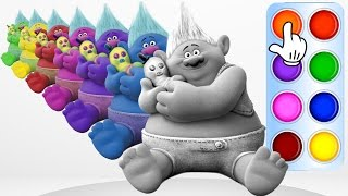 Learn Colors with Trolls Biggie - Learning True Colors Animation for Baby Children Toddler and Kids
