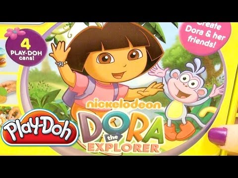 Play Doh Dora The Explorer Playdough Kit Hasbro Toys Dora Shaped Figures video