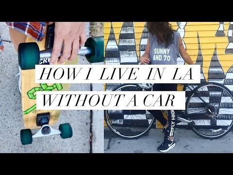 How I Get Around LA Without A Car (Bicycling, Lyft & LA Metro Transit, Going Green)