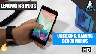 Lenovo K8 Plus Unboxing Gaming and Benchmarks