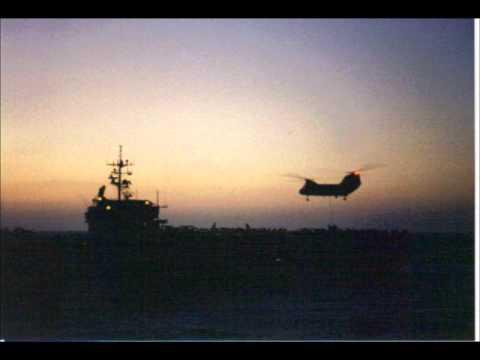 1991, Red Sea, Desert Storm. AE-28 USS Santa Barbara.