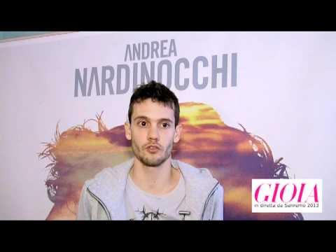 Sanremo 2013: Gioia Magazine intervista Andrea Nardinocchi.