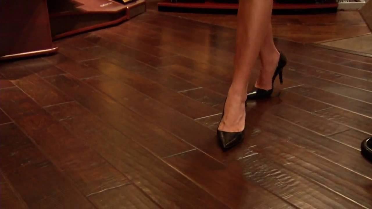 Ceramic hardwood floor tile