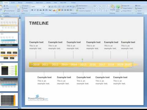 timeline template powerpoint. Customizing Timeline template