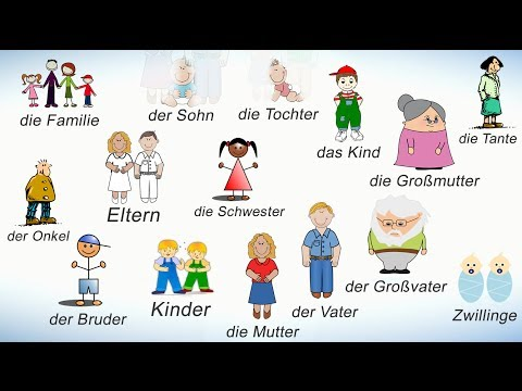 Слова на немецком на тему СЕМЬЯ