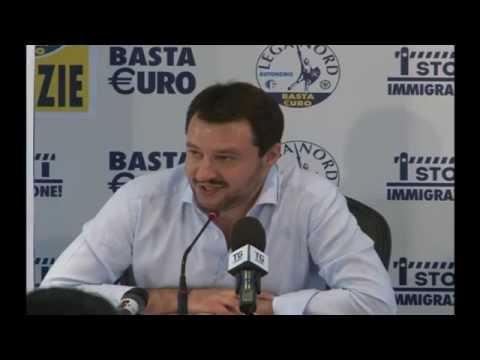 ELEZIONI EUROPEE 2014   CONFERENZA STAMPA MATTEO SALVINI  26052014