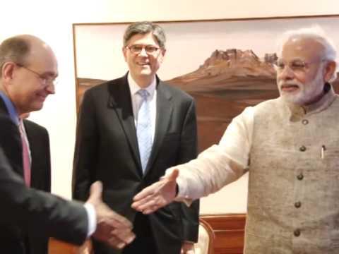 U.S. Treasury Secretary meets Indian PM Modi in New Delhi