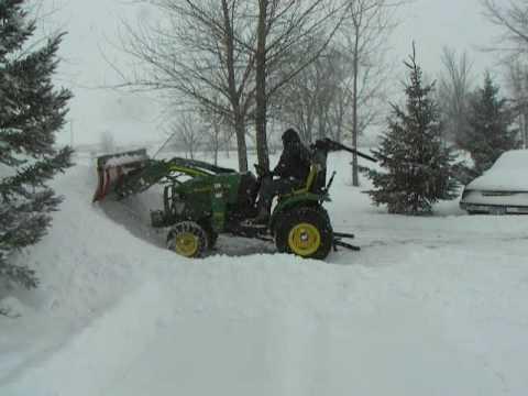 John Deere 2320 Tractor Homemade Snowplow Loader Attachment II