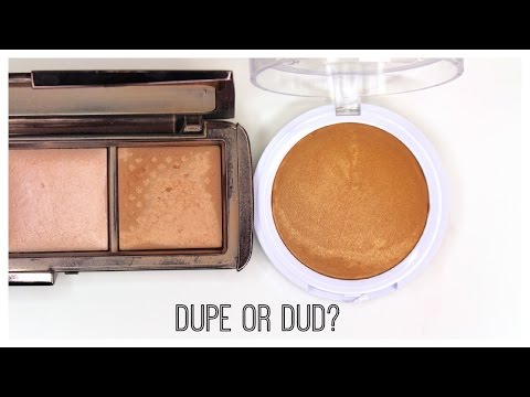 Dupe or Dud: Hourglass Ambient Lighting Powder vs. Hard Candy So Baked Bronzer   Bailey B.