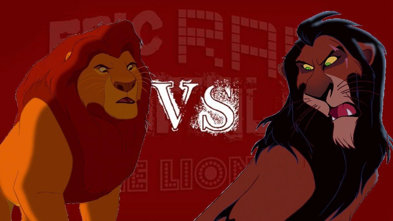 Scar Vs Mufasa Epic Rap Battles Of The Lion King 4 Youtube